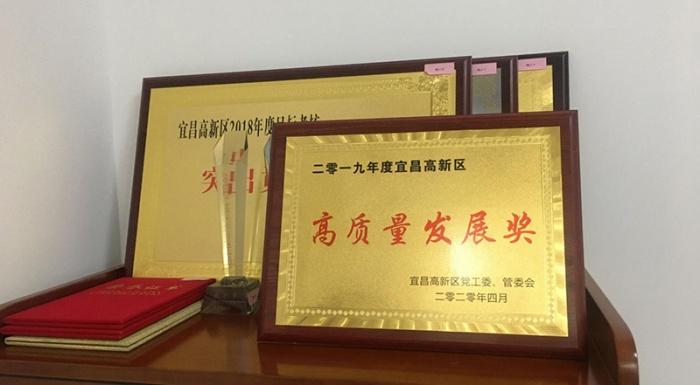 """三峡路桥公司荣获高新区""""高质量发展奖"""""""